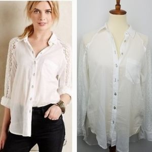 Holding Horses White Lace Button Down